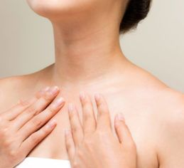 Wrinkles on the neck and decolletage