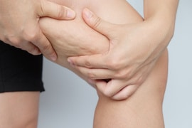 Female legs thighs with cellulite. Skin problem, body care, overweight and dieting concept, diabetic risk factor